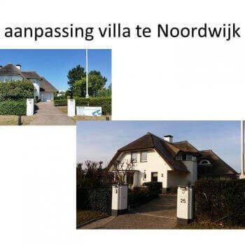 aanpassingen villa te Noordwijk