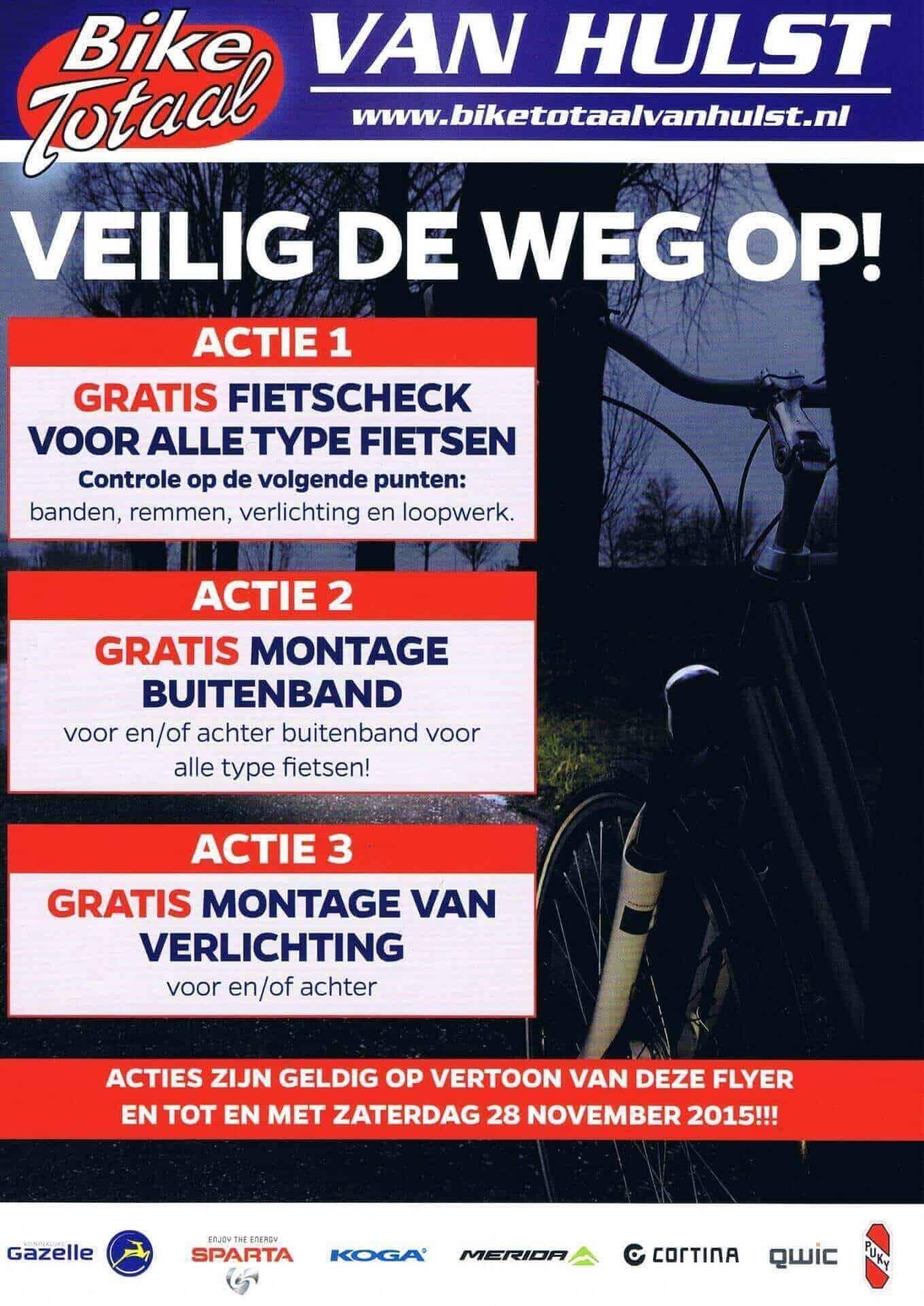Akties bij Bike Totaal Van Hulst Sassenheim